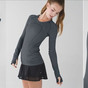 Lululemon Swiftly Tech Long Sleeve Crew Stripe 12